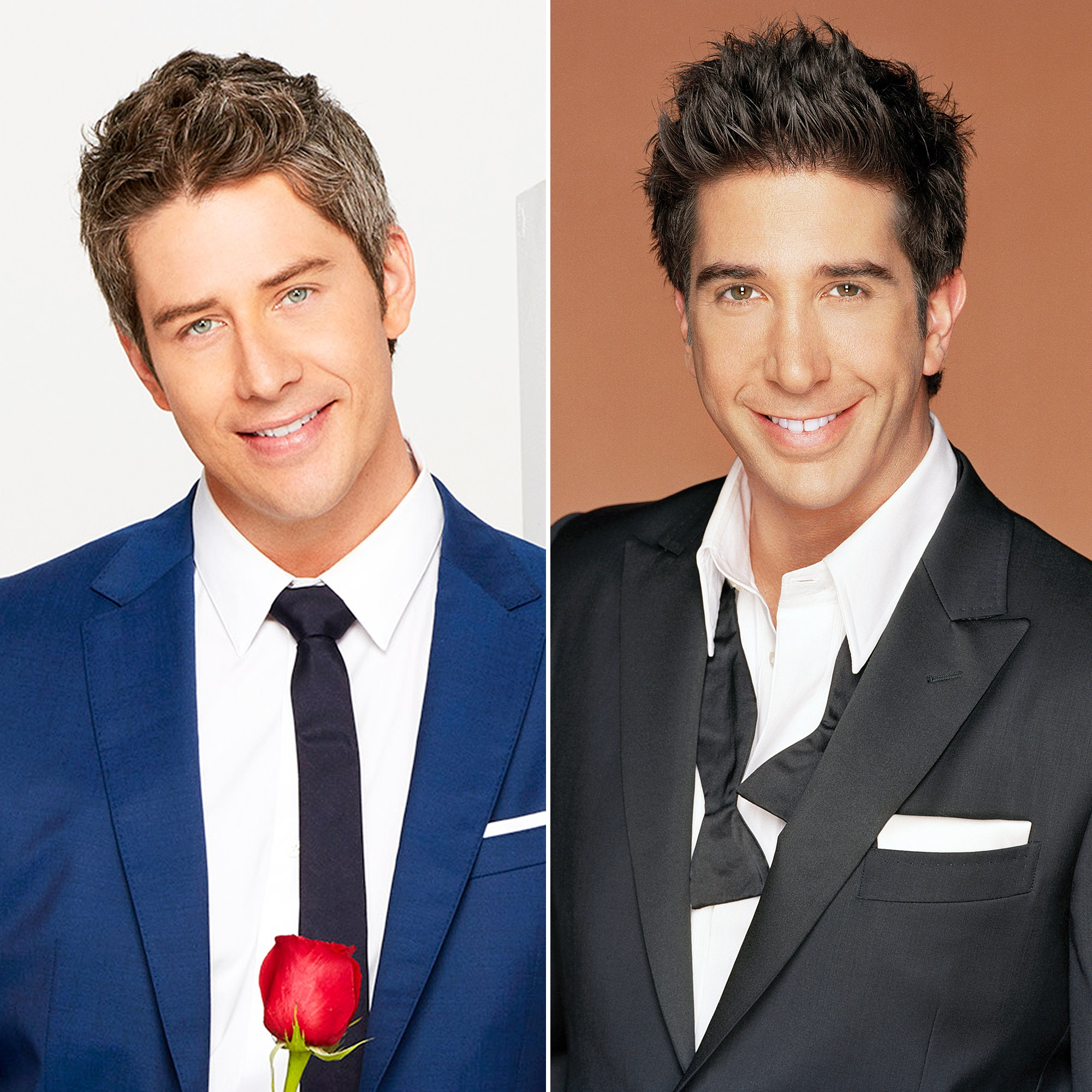 Arie Luyendyk, Jr and David Schwimmer as Ross on Friends