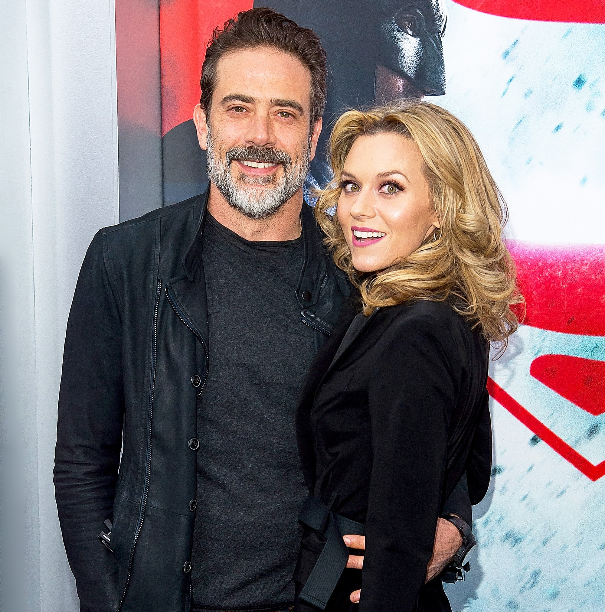 Jeffrey Dean Morgan and Hilarie Burton attend the Batman V Superman: Dawn Of Justice New York premiere at Radio City Music Hall on March 20, 2016 in New York City.