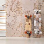 Faux Tile + Marble Wallpaper