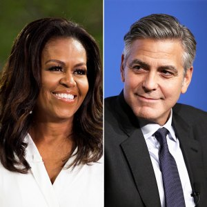 Michelle Obama and George Clooney