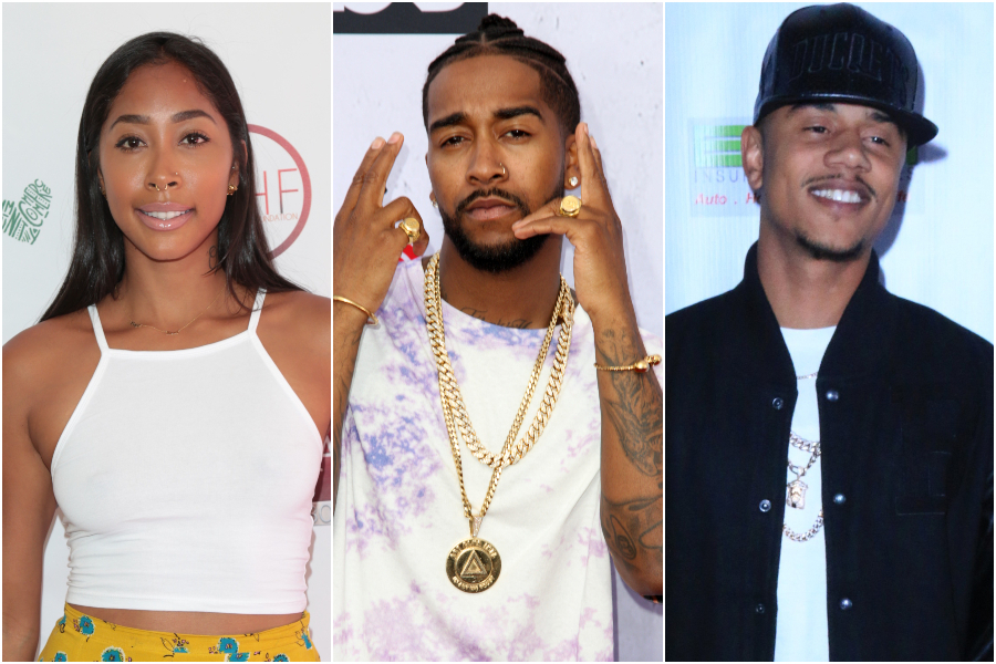 Lil Fizz, Apryl Jones and Omarion