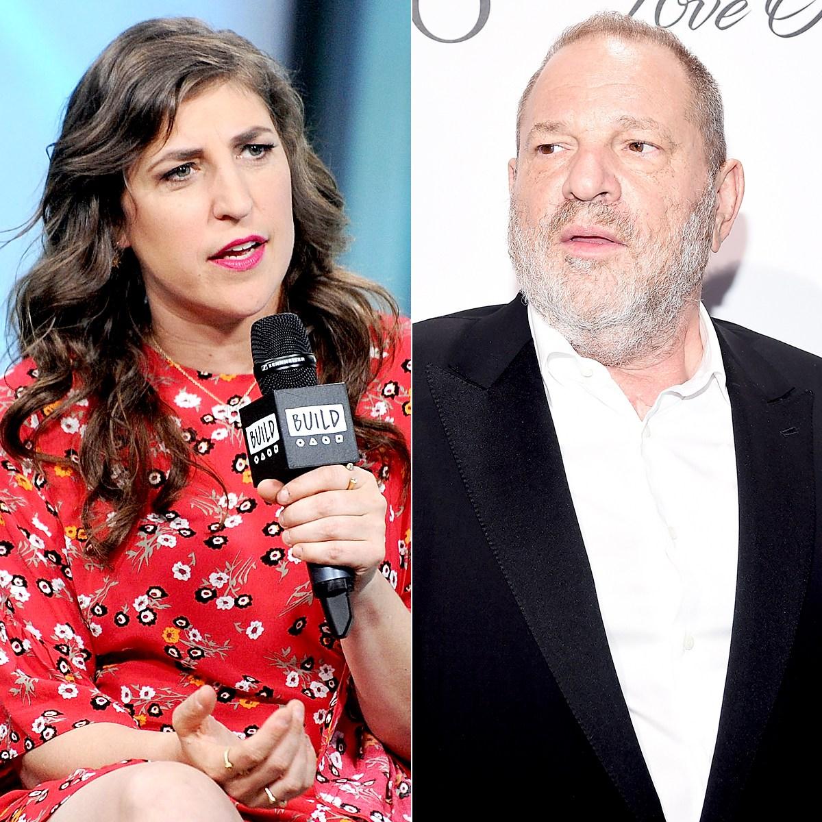 Mayim Bialik and Harvey Weinstein