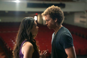 Auli'i Cravalho as Lilette Suarez, Damon J. Gillespie as Robbie Thorne in Rise.