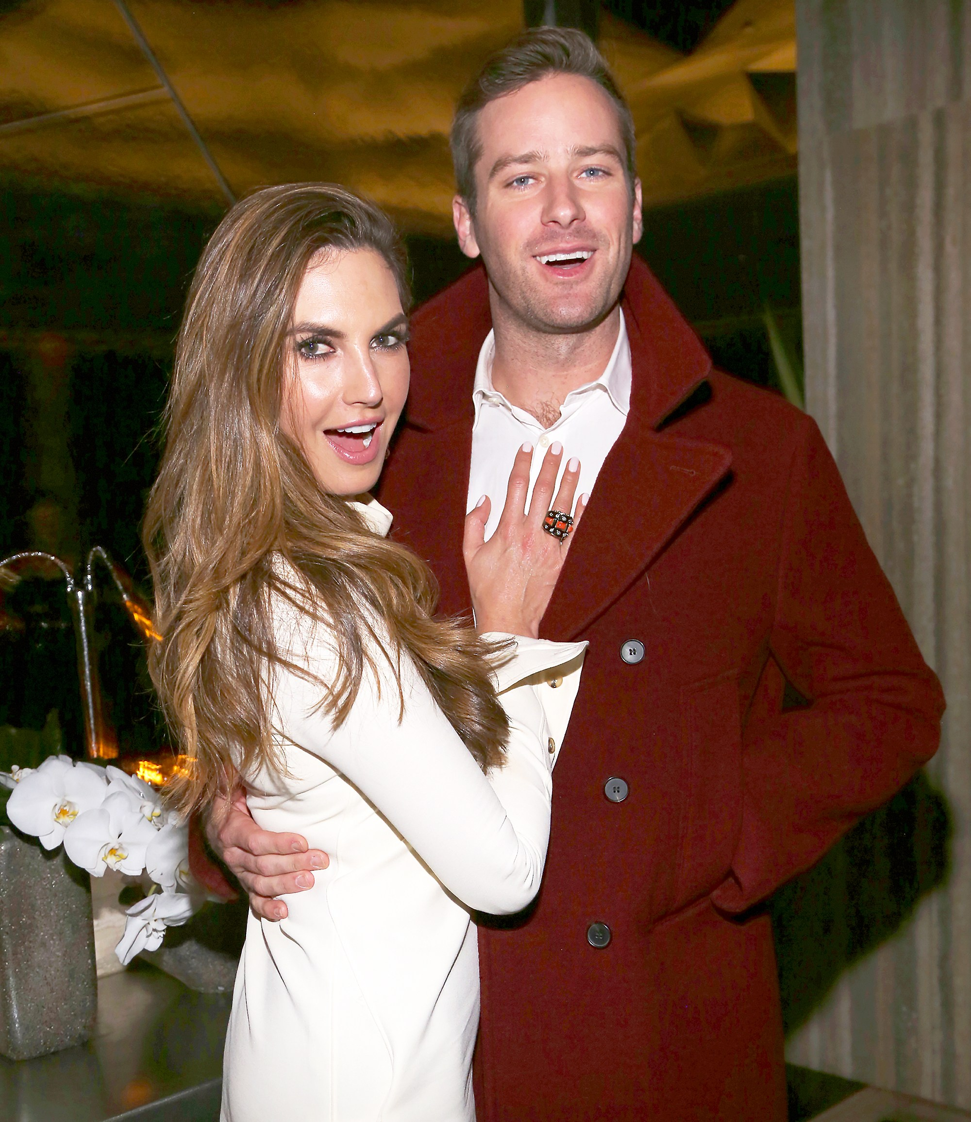 Elizabeth Chambers and Armie Hammer attends Calvin Klein and The Cinema Society host a screening of 'Call Me By Your Name' on November 16, 2017 in New York City.