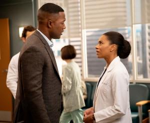Flex Alexander and Kelly McCreary on Grey's Anatomy