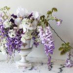 DIY: Garden Wisteria + Iris Summer Bouquet