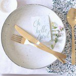 Tabletop: Spring Green + White Luncheon With Friends