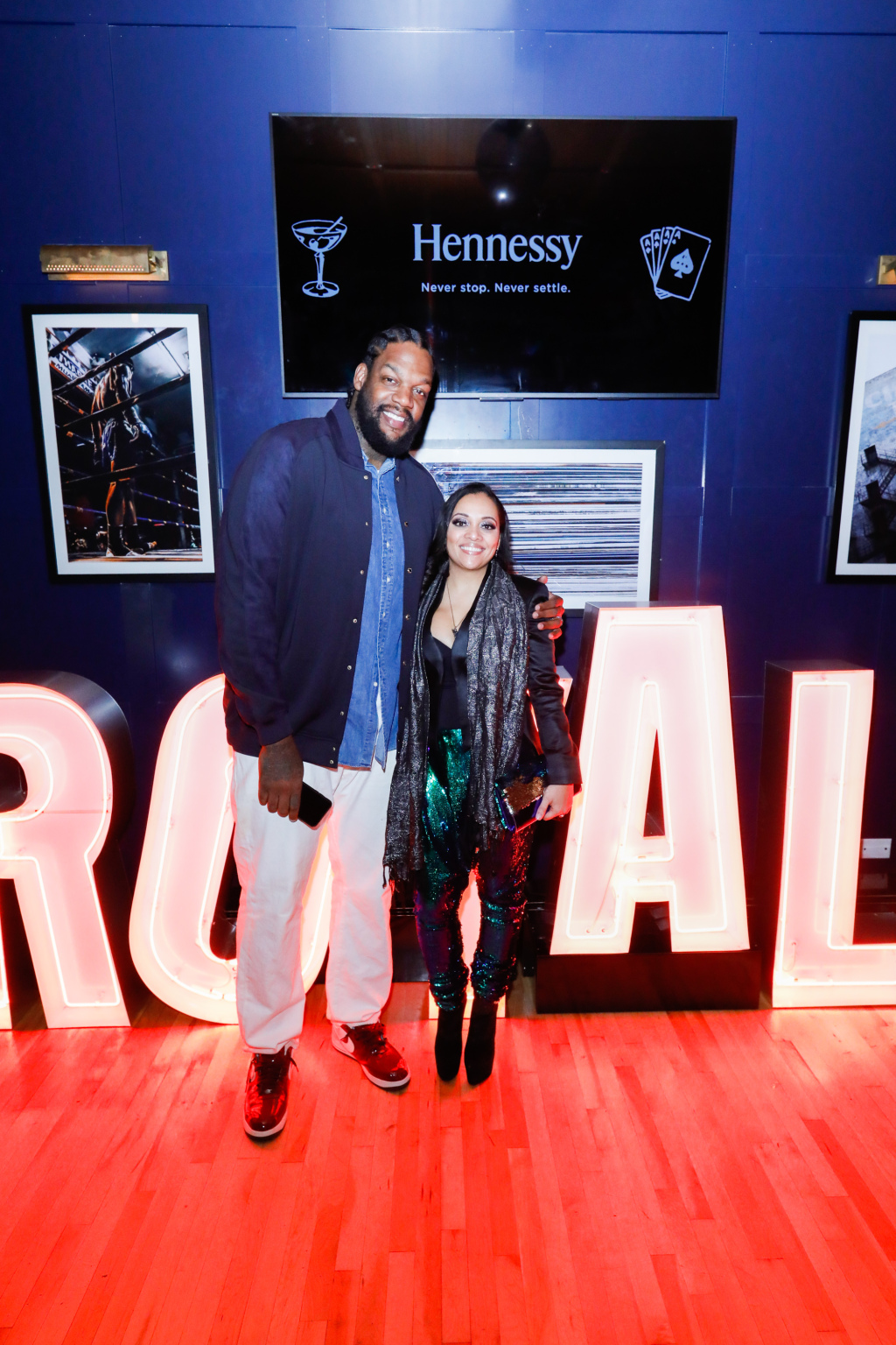 Eddy Curry and wife