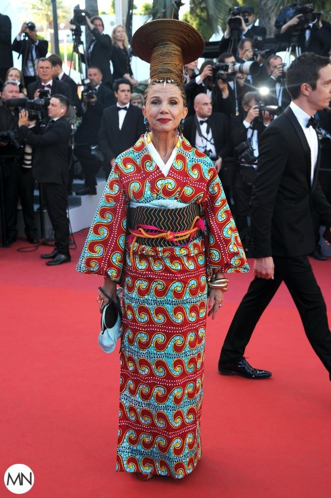 Victoria Abril Cannes African geisha