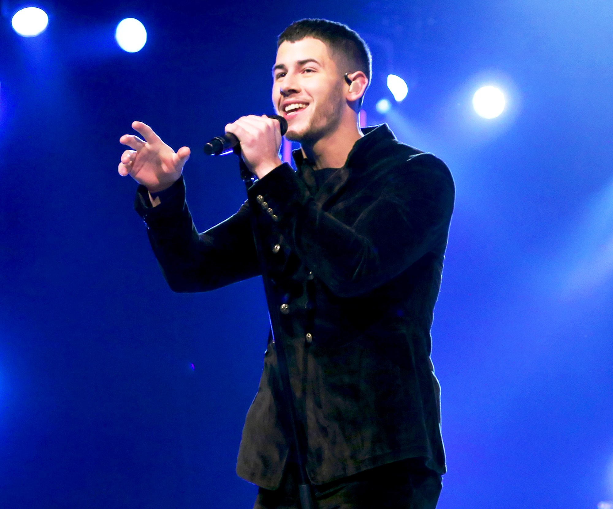 Nick Jonas performs onstage during the 2017 Person of the Year Gala in Las Vegas, Nevada.