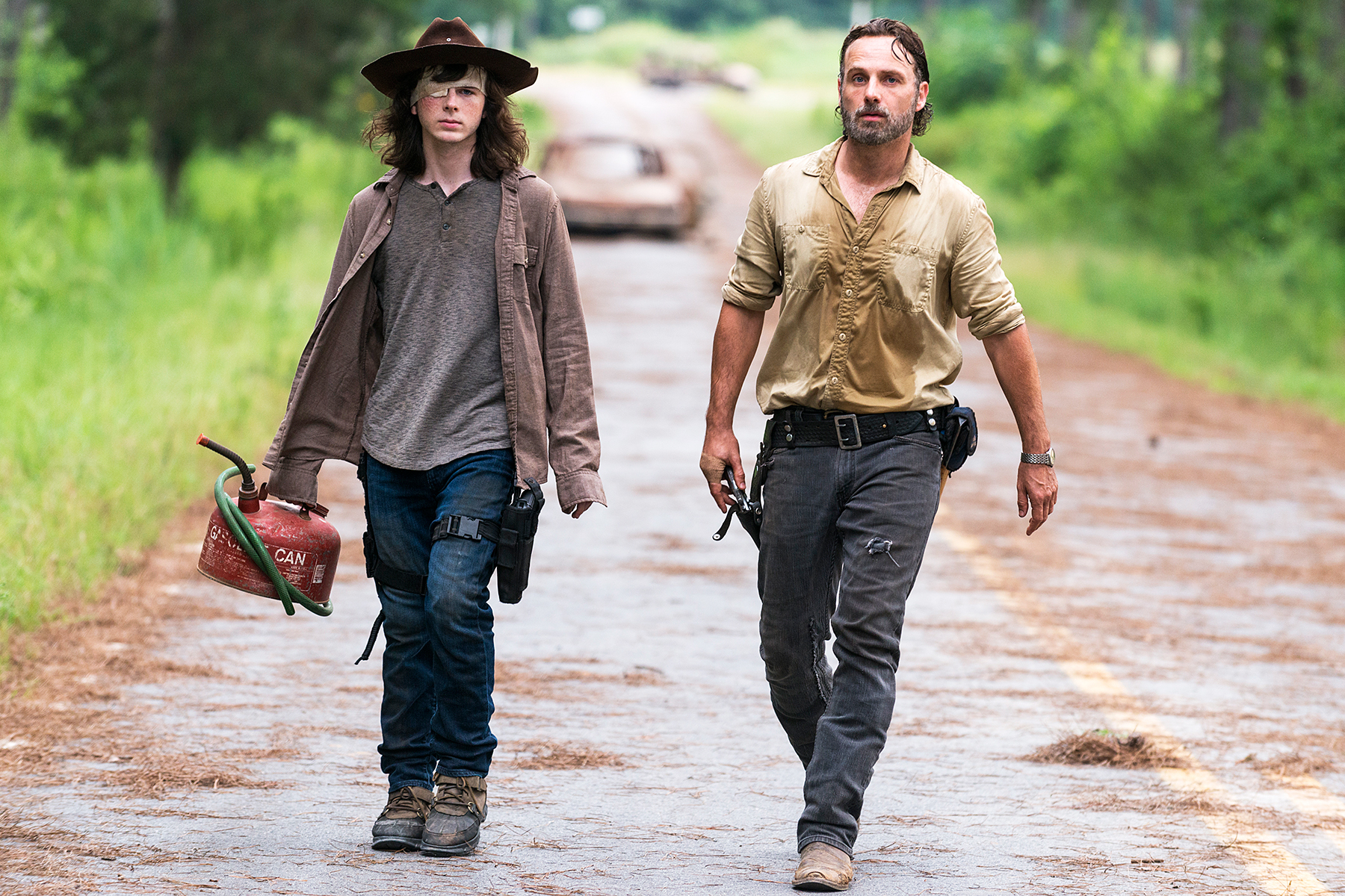 Chandler Riggs Andrew Lincoln Carl Rick The Walking Dead