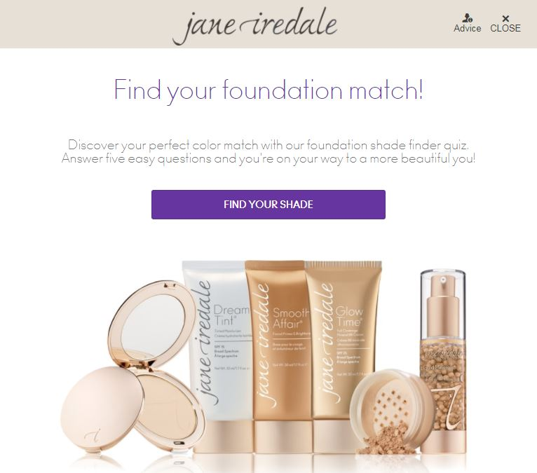 foundation shade finer quiz screenshot