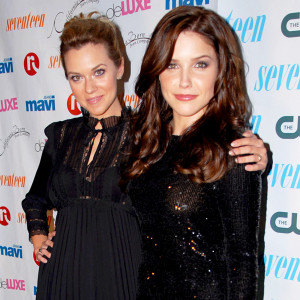 Hilarie Burton and Sophia Bush during Seventeen Magazine Celebrates Hearst Magazines 30 Days of Fashion at Show Nightclub in New York City on September 8, 2016.