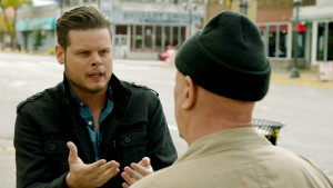 Derrick Levasseur speaks to Chuck in 'Breaking Homicide'