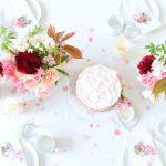 Tabletop: Springtime Pink Confetti + Tulips