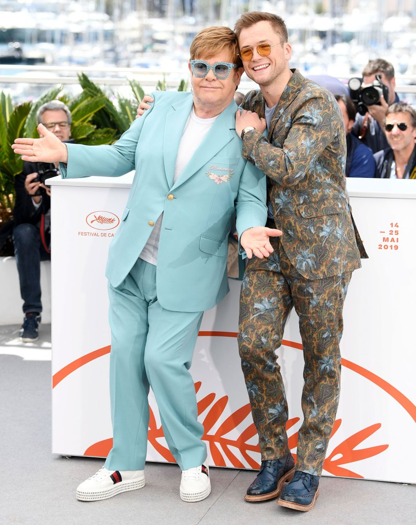 Taron Egerton and Elton John Rocketman Cannes