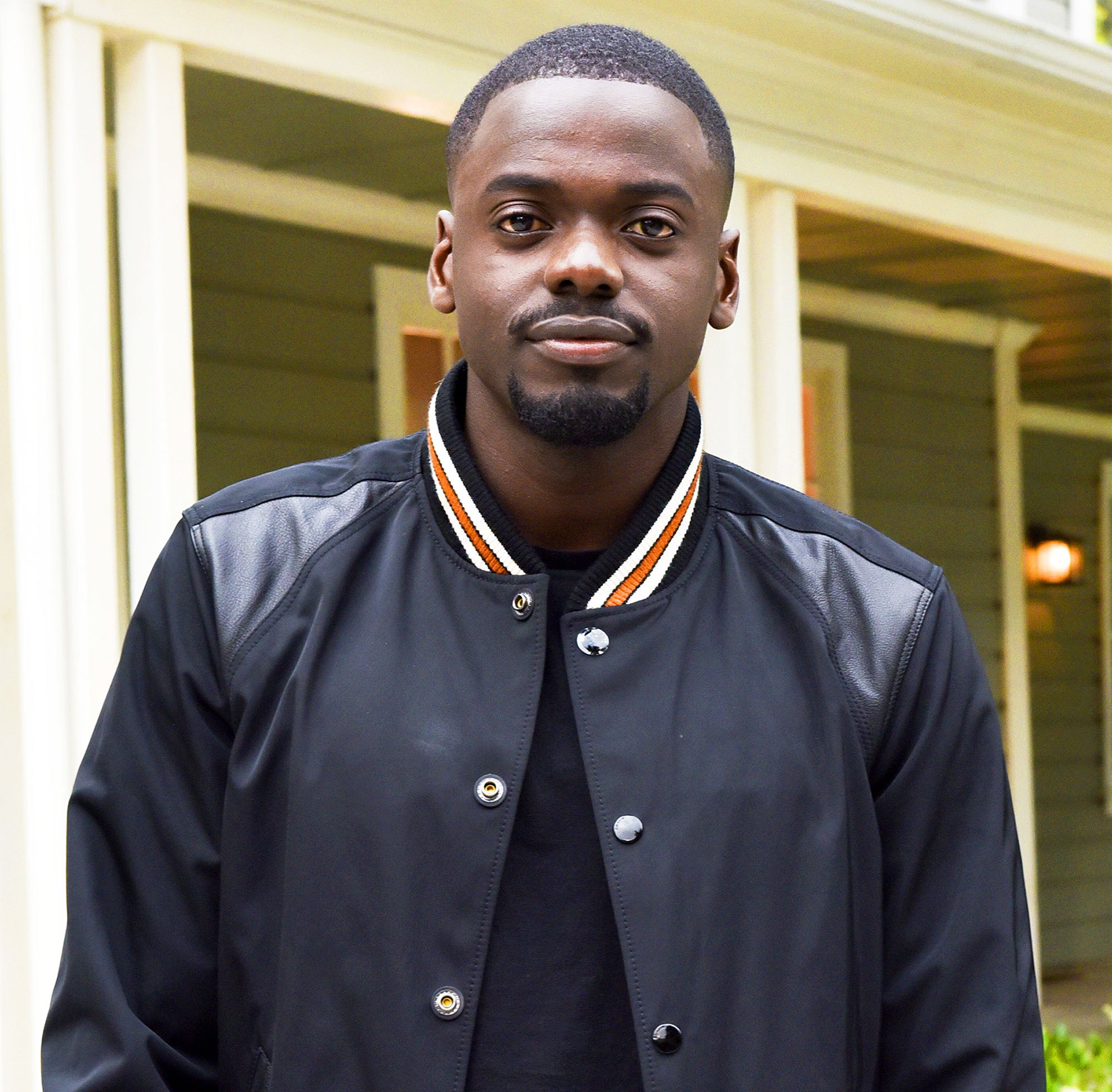 Daniel Kaluuya arrives at Get Out garden party on May 9, 2017.