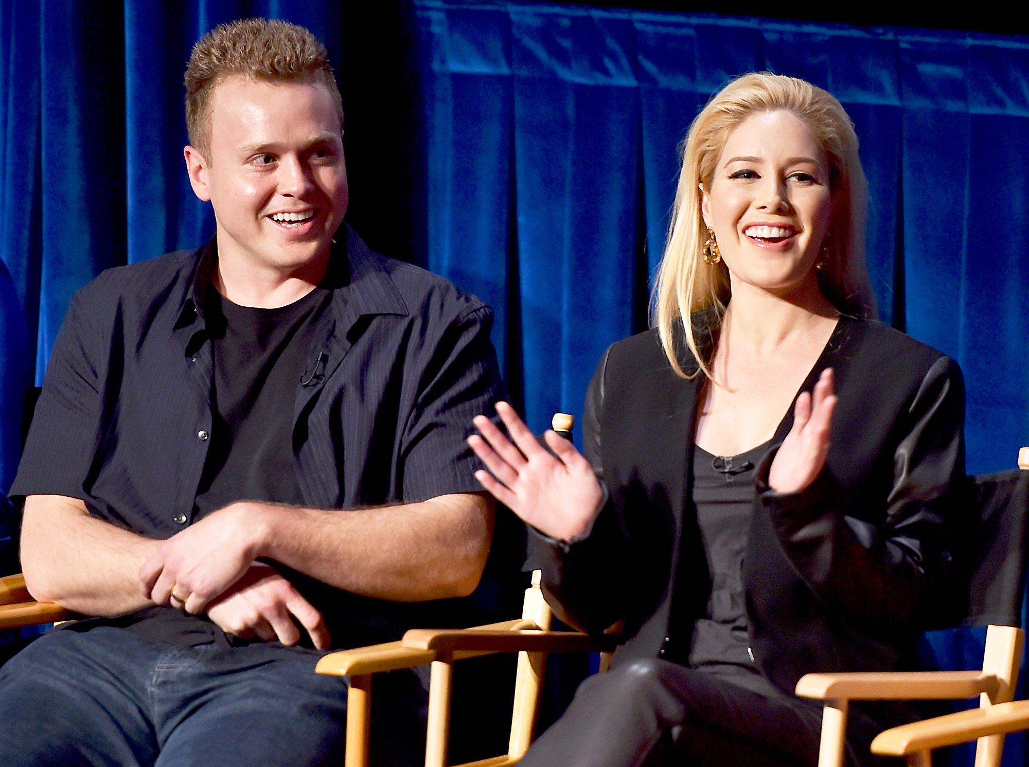 Spencer Pratt and Heidi Montag attend the WE tv presents The Evolution of The Relationship Reality Show at The Paley Center for Media on March 19, 2015 in Beverly Hills, California.