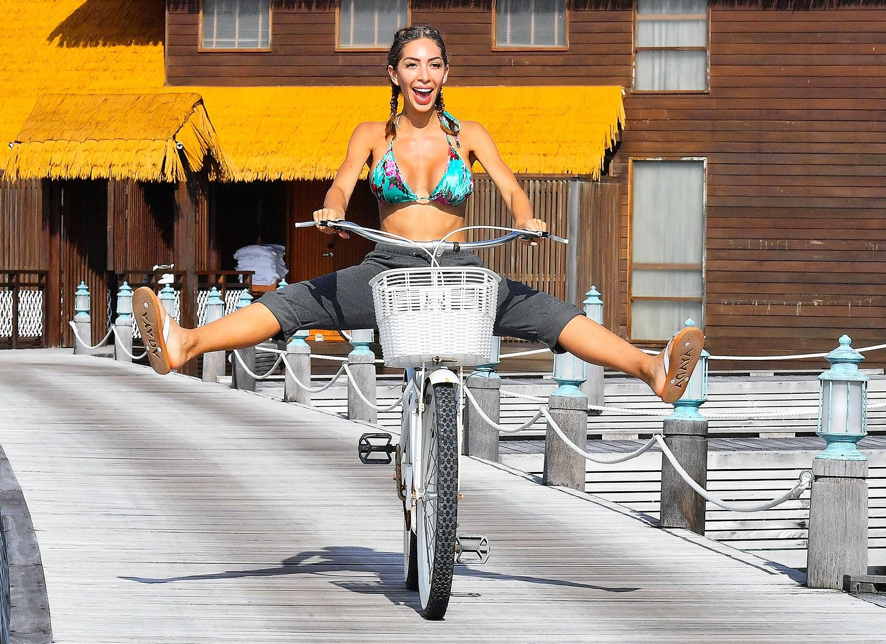 Farrah Abraham Bicycle Maldives