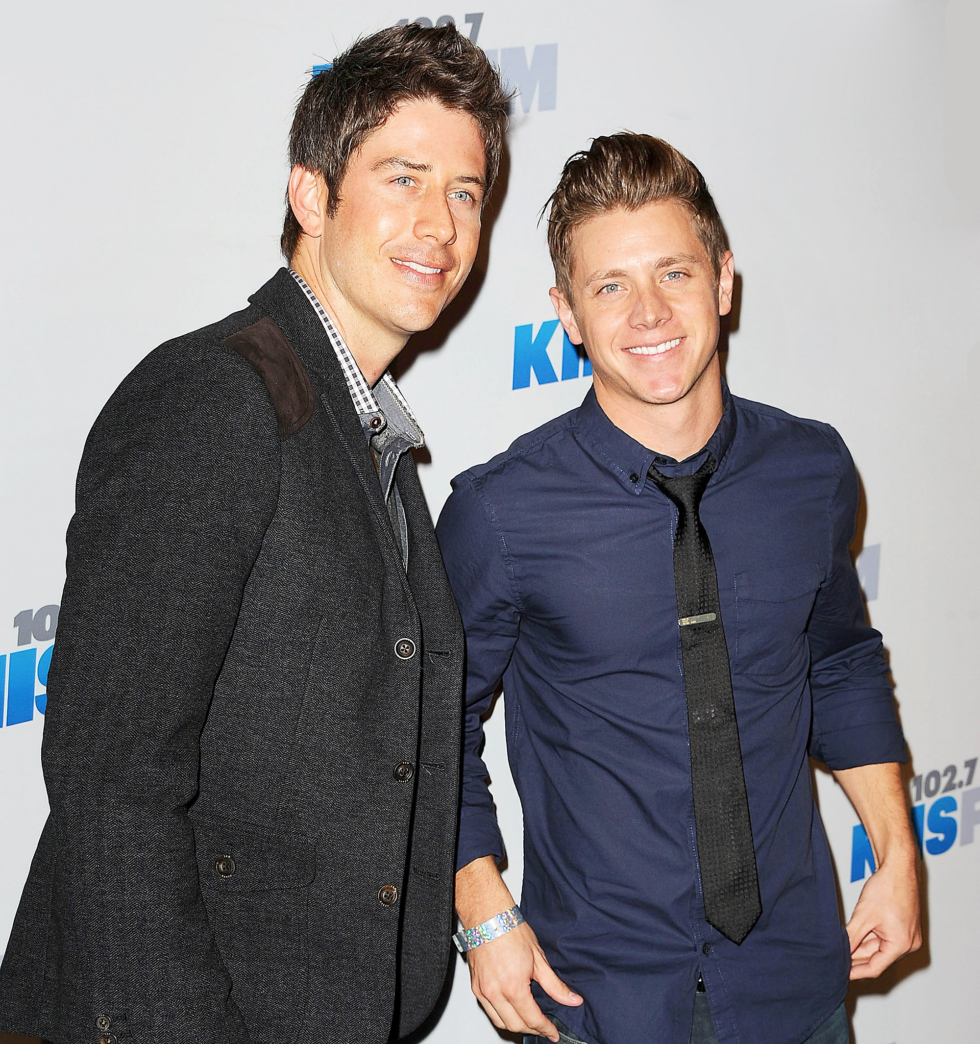 Arie Luyendyk Jr. and Jef Holm attend KIIS FM's Jingle Ball 2012 at Nokia Theatre LA Live in Los Angeles, California.