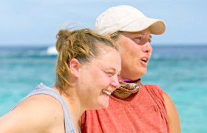 Lauren Rimmer and her loved one on the twelfth episode of Survivor themed 'Heroes vs. Healers vs. Hustlers'