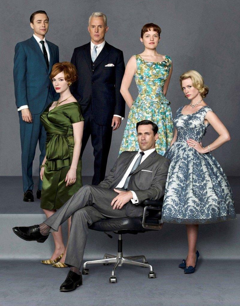 Mad Men Cast Christina Hendricks, Elisabeth Moss, January Jones, Vincent Kartheiser, John Slattery, Jon Hamm