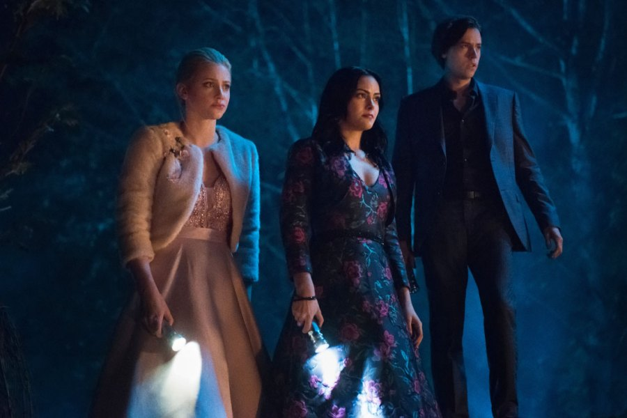 Lili Reinhart, Camila Mendes and Cole Sprouse Riverdale Episode