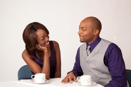 Couple having coffee pf