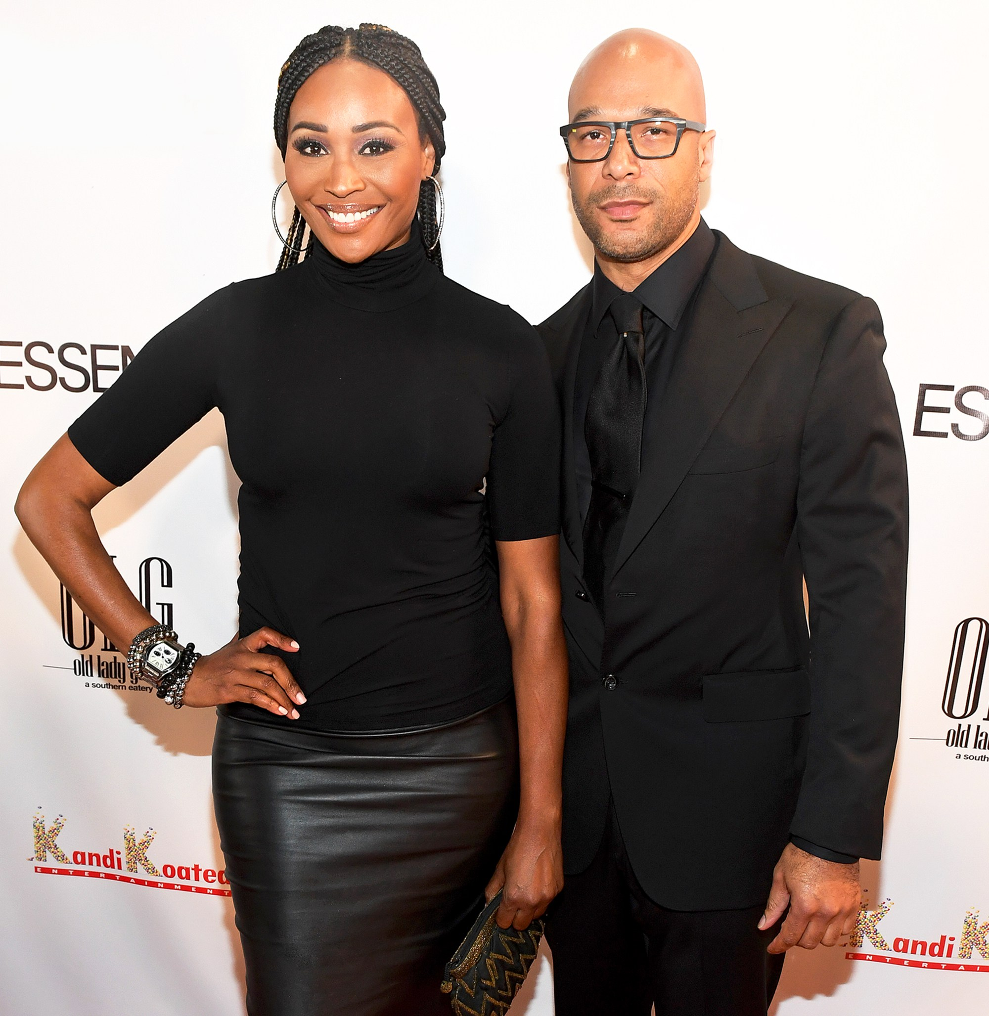 Cynthia Bailey and Will Jones attend the Essence Magazine celebrates October 2017 Cover Star at Revel in Atlanta, Georgia.