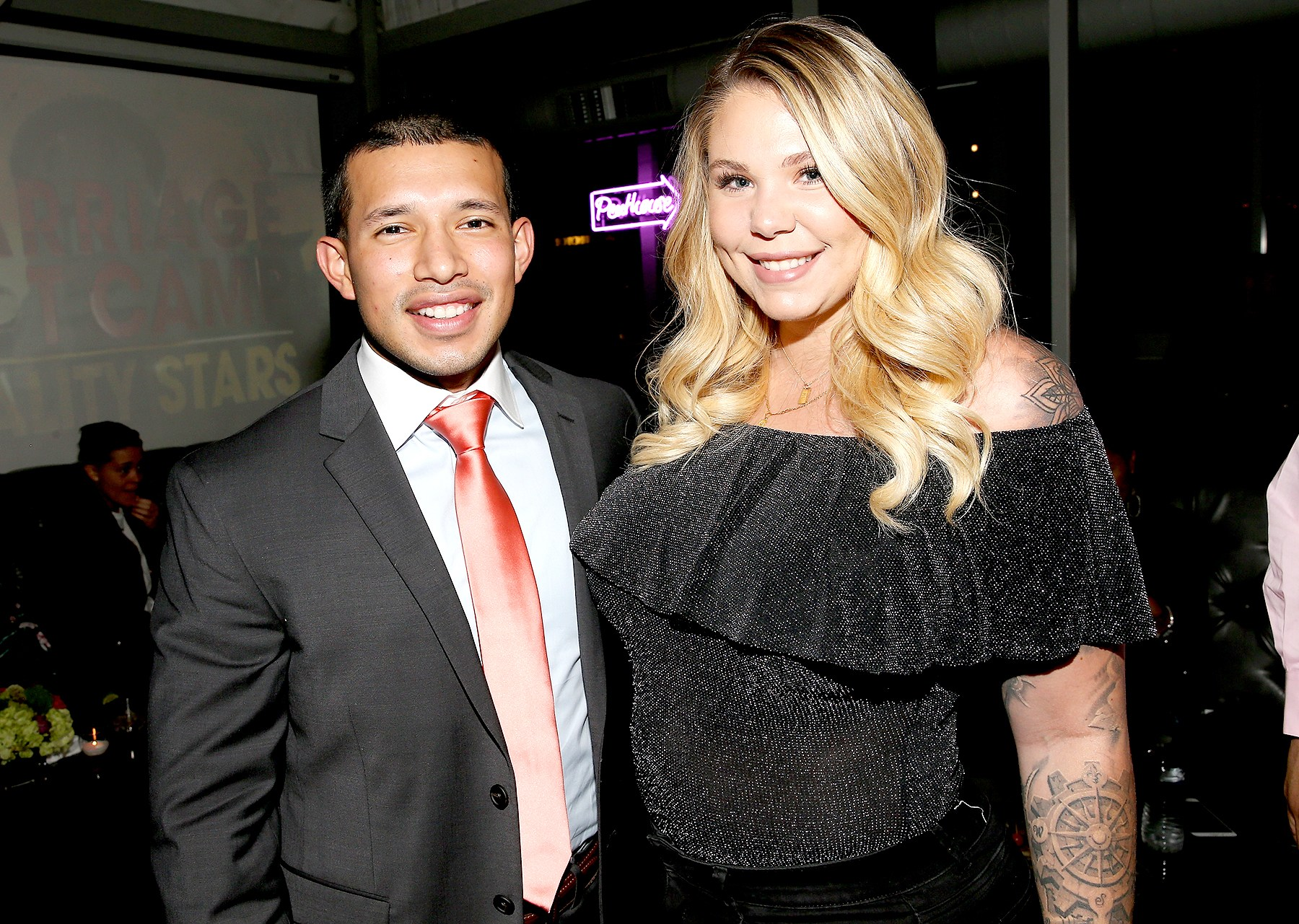Javi Marroquin and Kailyn Lowry attend the exclusive premiere party for Marriage Boot Camp Reality Stars Season 9 hosted by WE tv on October 12, 2017 in New York City.