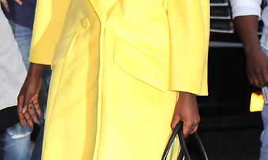 "Get ""Queen of Katwe"" Star Lupita Nyong'o's Fabulous Yellow Coat"
