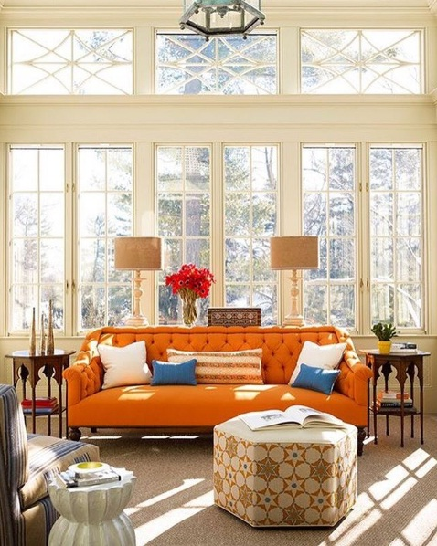 Burnt Orange Décor Makes A Beautiful Splash At Home