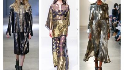 Gleaming Gold Fabrics Take Over The Fall 2016 Runways