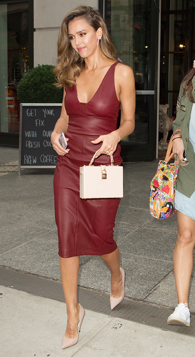 Leather Dresses Are A Popular Celebrity Trend For Fall