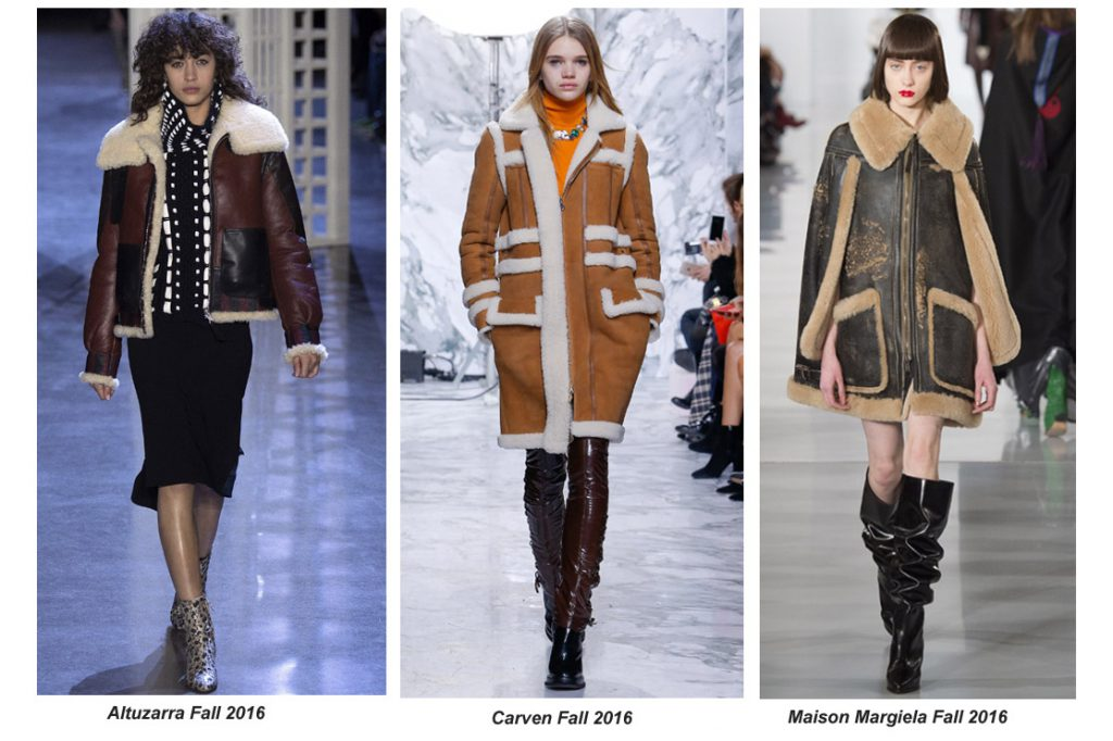 Sumptuous Shearling Stuns On The Autumn 2016 Runways