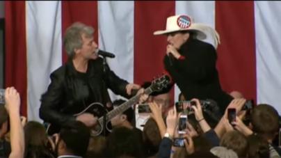 Watch Jon Bon Jovi And Lady Gaga Duet At Hillary Clinton Rally