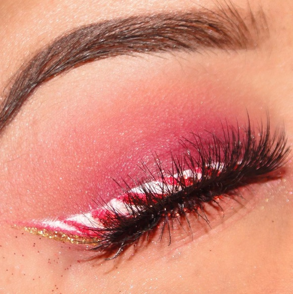 Candy Cane Eyeliner Makes A Sweet Splash In Time For Christmas