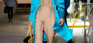 Copy Priyanka Chopra's Bright Satin Trench Coat