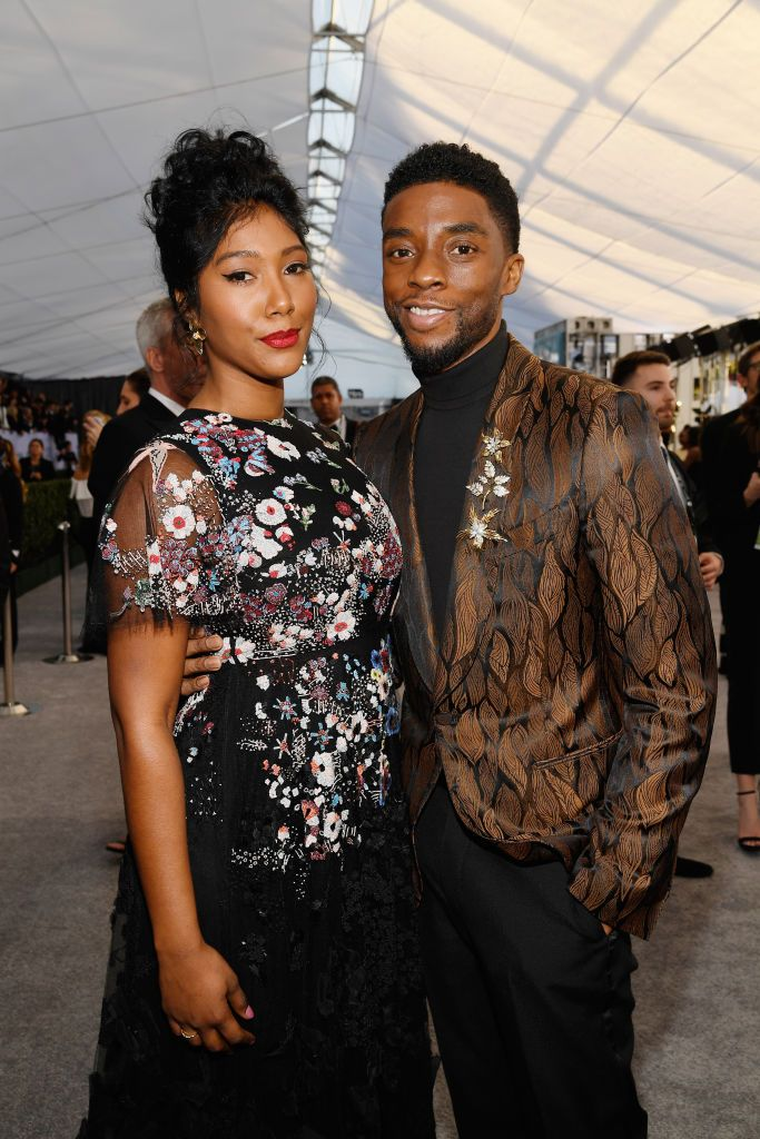 Chadwick Boseman Publicly Acknowledges Girlfriend Taylor Simone Ledward For The First Time At NAACP Image Awards