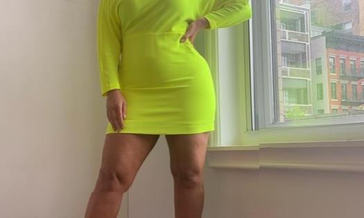 Copy Ashley Graham's Neon Dress & Pumps