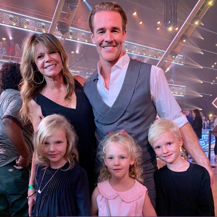 James Van Der Beek's 'Dawson's Creek' Mom Supports Him at 'DWTS'